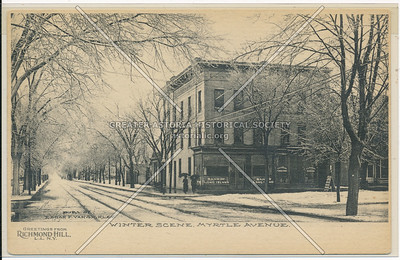 Winter Scene, Myrtle Ave, Richmond Hill, L.I.