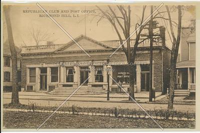 Republican Club & Post Office, Lefferts Blvd., Richmond Hill, L.I.