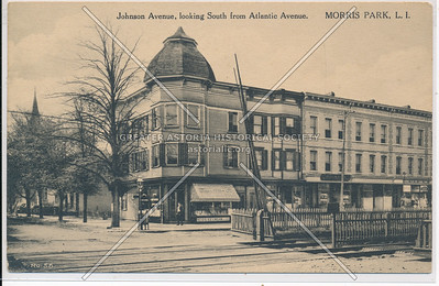 Johnson Ave (118 St), looking South from Atlantic Ave. Morris Park,, L.I.
