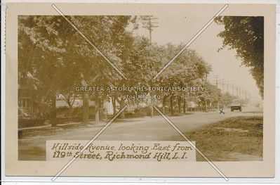 Hillside Ave, looking East from 119th St, Richmond Hill, L.I.