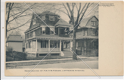 Residence of Mr. W.R. Keese Lefferts Ave., Richmond Hill, L.I.