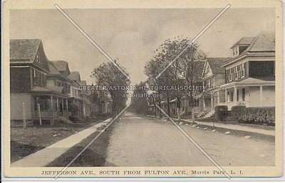 Jefferson Ave (116th)., South from Fulton Ave (Jamaica Ave)., Morris Park, L.I.