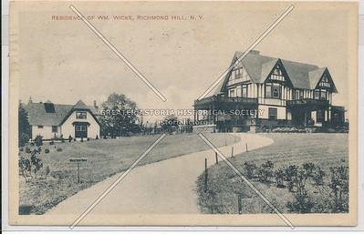 Residence of WM. Wicke, Richmond Hill, L.I.