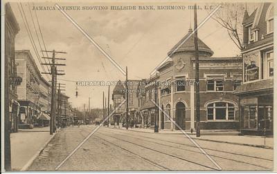 Jamaica Ave showing Hillside Bank, Richmond Hill, L.I.