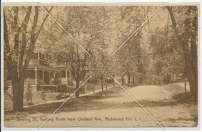 Welling St (110 St)., looking North from Orchard Ave (86 Ave)., Richmond Hill, L.I.