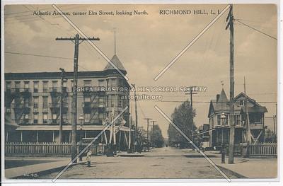 Atlantic Ave, cor Elm St (114 St), looking North. Richmond Hill, L.I.