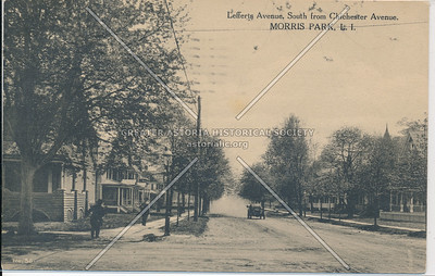 Lefferts Ave, South from Chichester Ave, (95 Ave) Morris Park,, L.I.