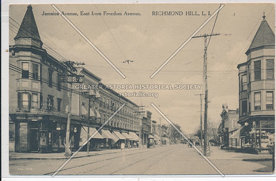 Jamaica Ave, East from Freedom Ave (102 St). Richmond Hill, L.I.