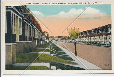 109th St toward Liberty Ave, Richmond Hill, L.I.