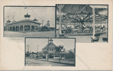 "Tobaggan Slide, ""Maple"" Carrousel & Building, North Beach, L.I."
