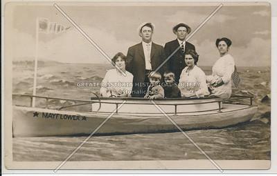 Family photo on the Mayflower, Baden's Mammoth Studio, L.I.