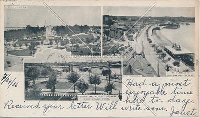 The Chutes, The Beach & Ferris Wheel, North Beach, L.I.