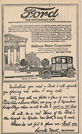 Hellman Motor Corporation, 560 Jackson Ave, LIC, NY.