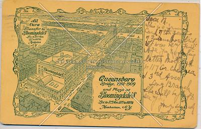 Queensboro Bridge, 1901-1909 & Plaza at Bloomingdales, LIC, NY.