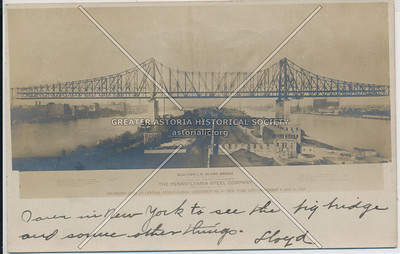Blackwell's Island Bridge (Queensboro Bridge), LIC, NY.