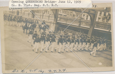 June 12, 1909. The opening of the Queensboro Bridge, LIC.