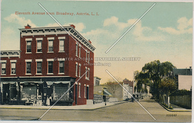 Eleventh Ave (41 St) from Broadway, Astoria, L.I.