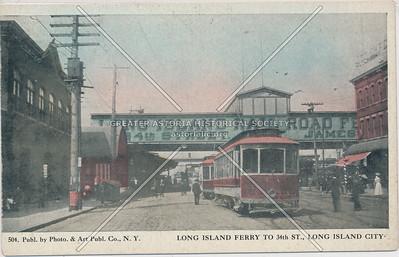Long Island ferry to 34th St., LIC, NY.