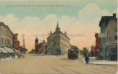 Junction Flushing (Astoria Blvd) & Newtown Aves, Astoria, L.I.