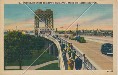 Triborough Bridge Connecting Manhattan, Bronx & Queens, NY.