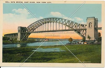 Hell Gate Bridge, East River, NYC.