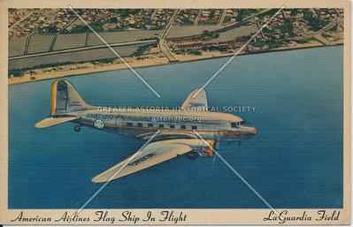American Airlines Flag Ship in Flight, La Guardia Field, L.I.