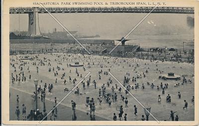 Astoria Park Swimming Pool & Triborough Span, L.I.N.Y.