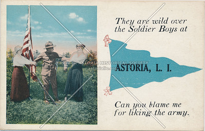 They are wild over the soldier boys at Astoria, L.I.
