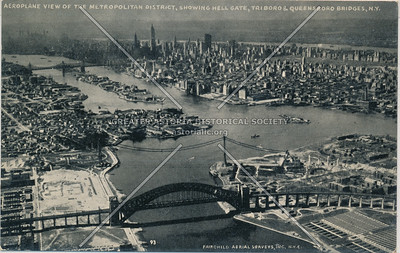 Metropolitan District, showing Hell Gate, Triborough & Queensborough Bridges, N.Y.