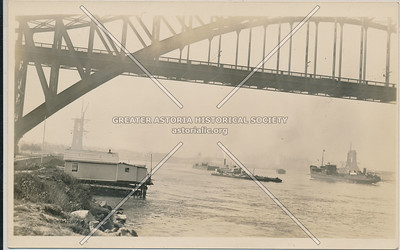 Hell Gate Bridge under construction, L.I.