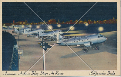 American Airlines Flag Ships at Ramp, La Guardia Field, L.I.
