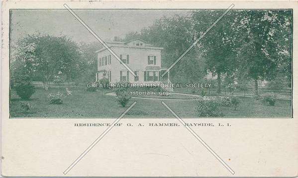 Residence of G.A. Hammer, Bayside, LIC.