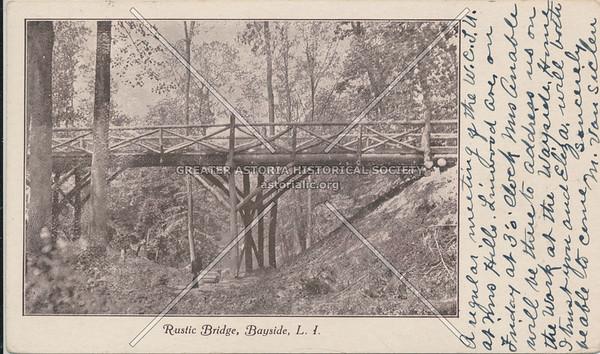 Rustic Bridge, Bayside, LIC.