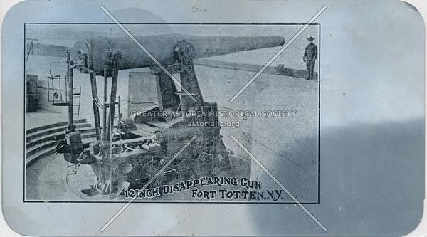 12 Inch Disappearing Gun, Fort Totten, N.Y.