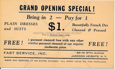 Fast Service INC, 86-10 37th Ave, Jackson Heights, L.I.