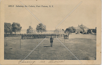 Saluting the Colors, Fort Totten, N.Y.