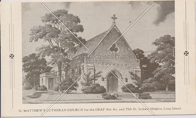 St. Matthew's Lutheran Church for the Deaf, 41st Ave & 75th St, Jackson Heights, L.I.