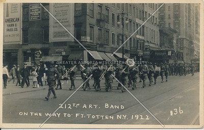 212th Art. Band on 5th Avenue, Fort Totten, N.Y. 1922