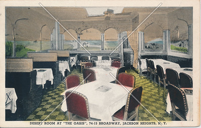 """Desert Room at """"The Oasis"""", 74-13 Broadway, Jackson Heights, L.I."""