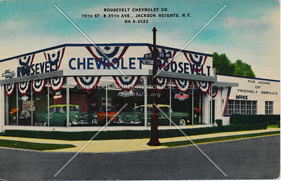 Roosevelt Chevrolet Co., 70th St & 35th Ave, Jackson Heights, L.I.