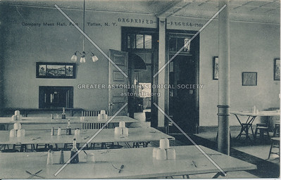 Company Mess Hall, Fort Totten, N.Y.
