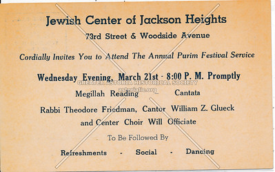 Jewish Center of Jackson Heights, 73rd St & Woodside Ave, L.I.
