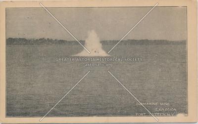 Submarine mine explosion, Fort Totten, N.Y.