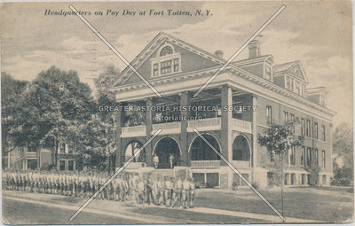 Headquarters on Pay Day, Fort Totten, N.Y.