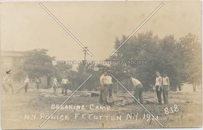 Breaking Camp, NY Police, Fort Totten, N.Y.