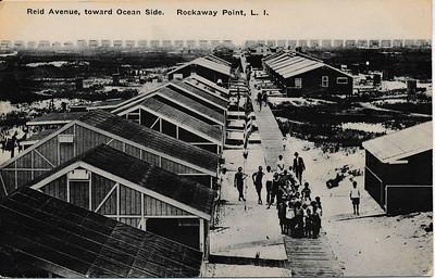 Reid Ave, toward Ocean Side, Rockaway Point, L.I.