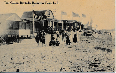Tent Colony, Bay Side, Rockaway Point, L.I.
