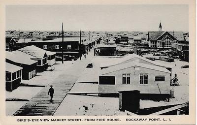 Bird's-Eye View Market St, from Fire House, Rockaway Point, L.I.
