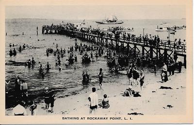 Bathing at Rockaway Point, L.I.