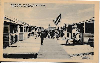 Reid Ave towards Fire House, Rockaway Point, L.I.